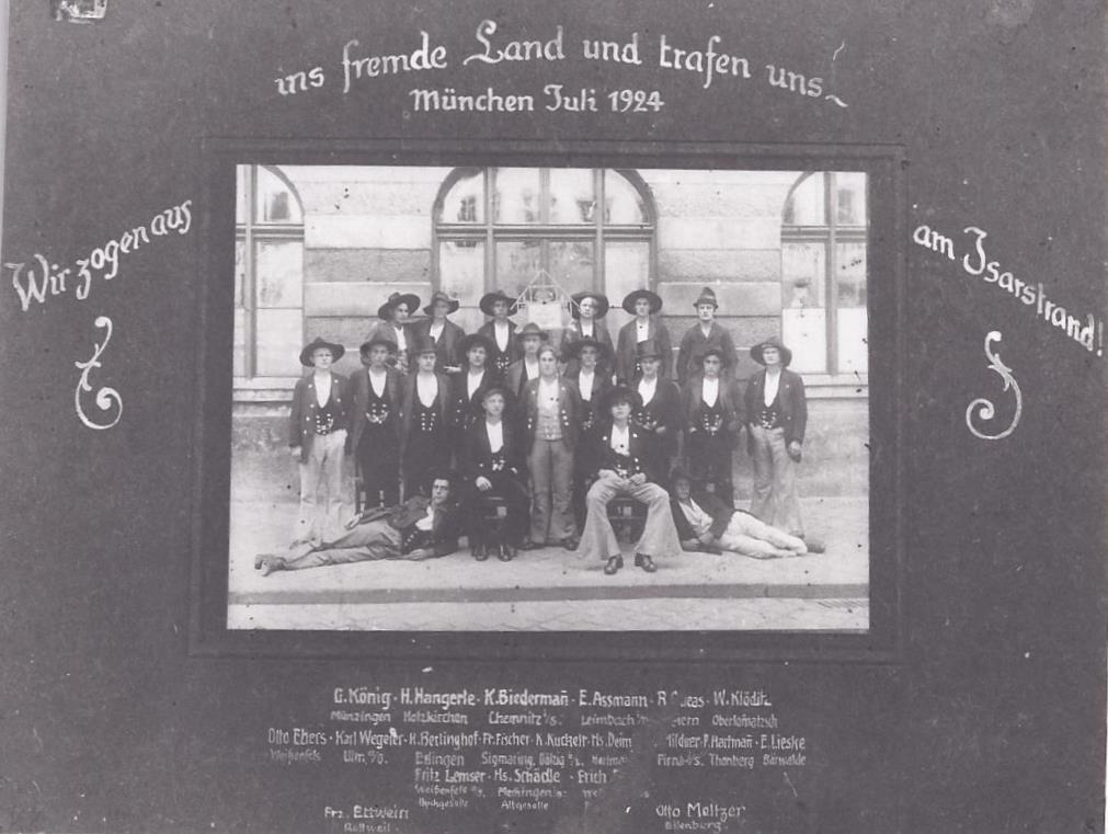 1924 – München Gesellschaftstreffen