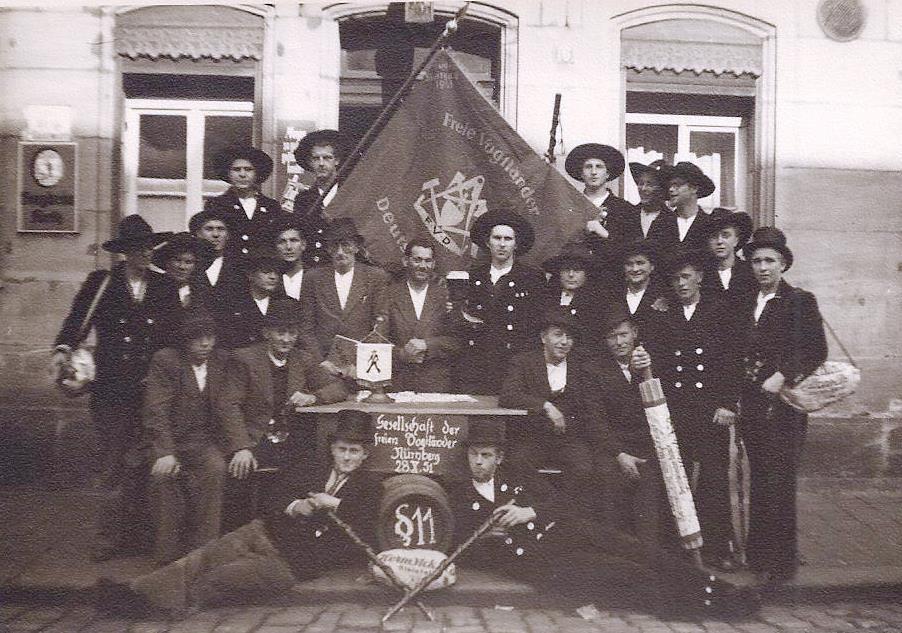 1951 – Fahnenweihe der Stuttgarter Fahne in Nbg.